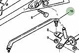John Deere Original Equipment Tie Rod Assembly #AM132391