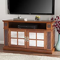 Southern Enterprises Medina Media Console with Faux Stone