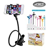 Cell Phones Accessories Best Deals - AMS Universal Cell Phone Holder, Clip Holder, Lazy Bracket Flexible Long Arms for All Mobile, Fit On Desktop Bed Mobile Stand for Bedroom, Office, Kitchen