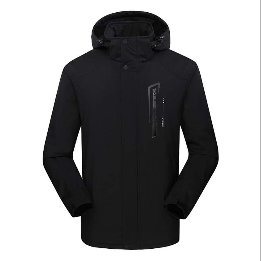 X-grand FELICIPP Veste en Coton matelassée pour Hommes en Plein air, de Grande Taille, en Coton Sport pour Hommes (Couleur   02, Taille   2XL)