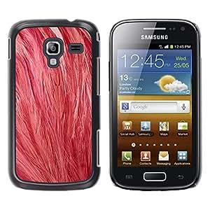Be Good Phone Accessory // Dura Cáscara cubierta Protectora Caso Carcasa Funda de Protección para Samsung Galaxy Ace 2 I8160 Ace II X S7560M // Pink Feathers Art Bird Animal Nature S
