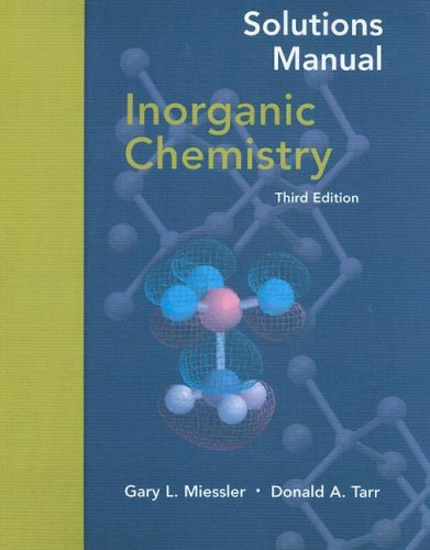 Inorganic Chemistry  (Solutions Manual)