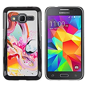 Shell-Star Arte & diseño plástico duro Fundas Cover Cubre Hard Case Cover para Samsung Galaxy Core Prime / SM-G360 ( Universe Painting Colorful Art Oil Positive Life )