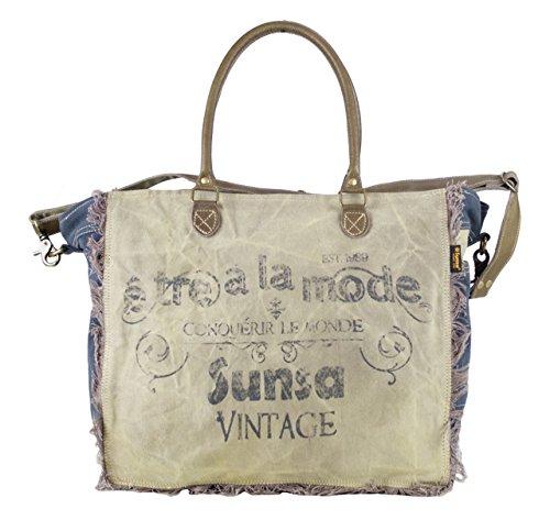 Sunsa Borse da Donna Vintage Borse a tracolla Borsette in Canvas   Telo  olona con pelle 1f2ab71512b