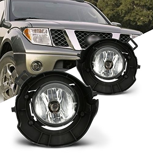 Scitoo Packaged Clear Lens OE/Replacement Fog Light fit Nissan Frontier 2005 2006 2007 2008 2009(PAINTED BUMPER) Pair Set