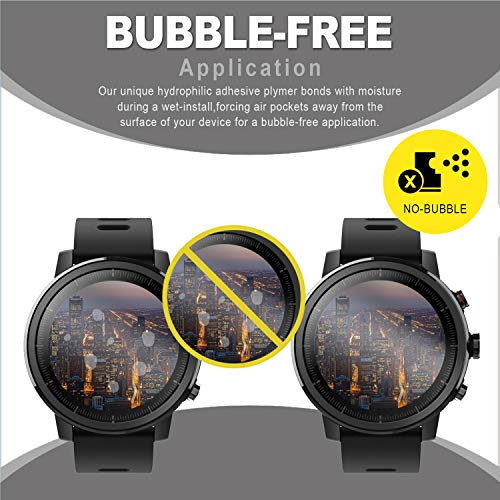 SPGuard Compatible with Amazfit Stratos Screen Protector [6-PACK], LiQuidSkin bubble-free Screen...