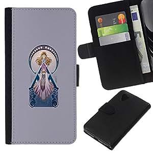 All Phone Most Case / Oferta Especial Cáscara Funda de cuero Monedero Cubierta de proteccion Caso / Wallet Case for LG Nexus 5 D820 D821 // Pink Princess