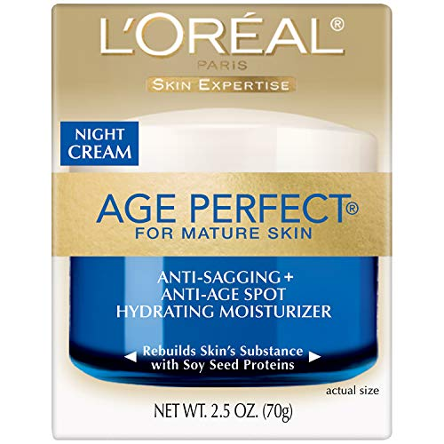 510gqyV3rEL - L'oréal Paris Skin Care Age Perfect Night Cream, Anti-Aging Face Moisturizer With Soy Seed Proteins, 2.5 Oz