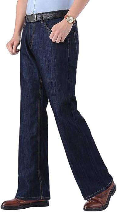 Haorun Pantalones Vaqueros Acampanados Para Hombre 60 Y 70 Azul 48 Amazon Es Ropa Y Accesorios