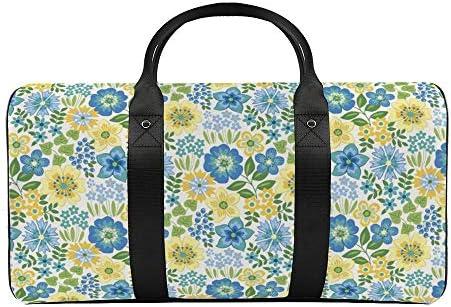 花屋1 旅行バッグナイロンハンドバッグ大容量軽量多機能荷物ポーチフィットネスバッグユニセックス旅行ビジネス通勤旅行スーツケースポーチ収納バッグ