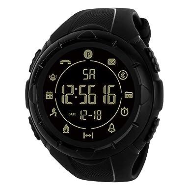 BIBOKAOKE Reloj Deportivo Inteligente de Hombre Luces LED ...