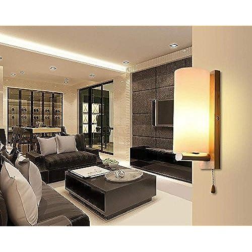 Haizhen Lampe Murale A Led Lampe Moderne En Bois Escalier