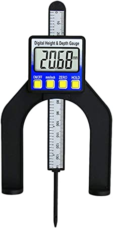 Digital Tiefenmesser 0-80 mm LCD Magnet Holzarbeiten Werkzeug Tischler
