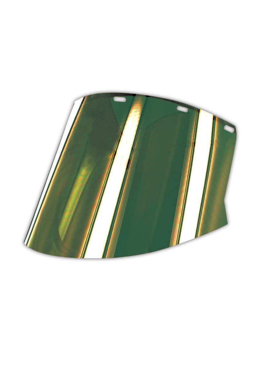 Elvex Corporation FS-18GL Heat-Resistant Faceshield, Standard, Green/Gold