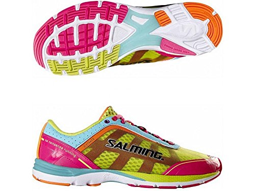 Yellow Neutral Shoes Pink Salming Womens Pink Running 3 Distance 7T8w7BqxFA