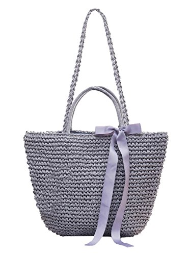 Fashion Purse Gray Top Girl's blue Handle Hobos Shoulder Handbags Womens Summer Bags Tote pSwvq1d