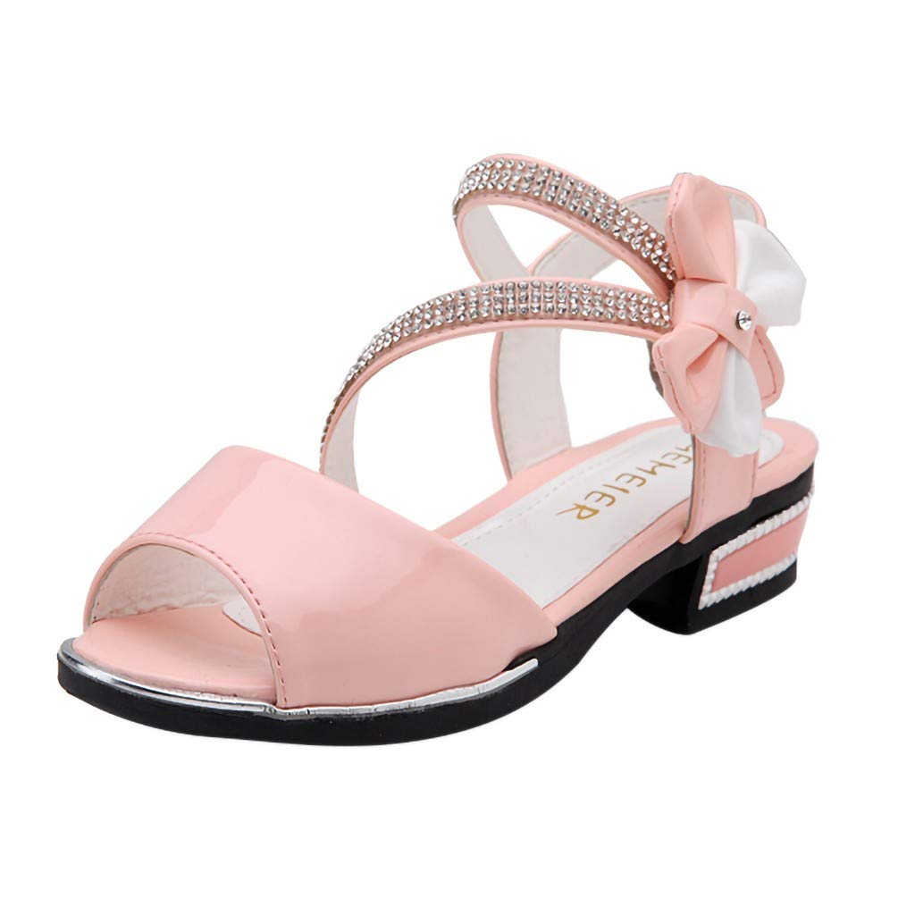 Tantisy ♣↭♣ Girls Crystal Princess Sandals/Anti-Slip Sole Shoes/Fashion Summer Roman Shoes(Toddler/Little Kid/Big Kid) Pink by Tantisy ♣↭♣ Baby Shoes