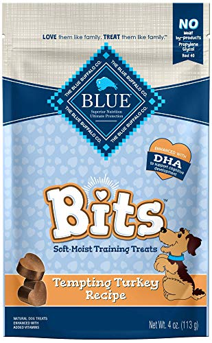 Blue Buffalo BLUE Bits Natural Soft-Moist Training Dog Treats, Turkey Recipe 4-oz bag