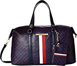 Tommy Hilfiger Women's Dacia Convertible Satchel Navy/Red One Size