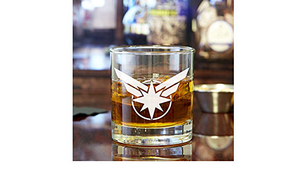 2 pieces Captain America Engraved Rocks Glasses Birthday Gift RCK10OZ-AQ132J Holiday Gift