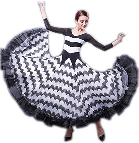正式的 garuda 社交ダンス garuda ドレスダンス衣装 豪華モダン競技ワンピース ストライプ波ライン サイズL サイズオーダー可 B075BJMZVV B075BJMZVV サイズL, 加藤打抜裁断所:3c320abe --- a0267596.xsph.ru