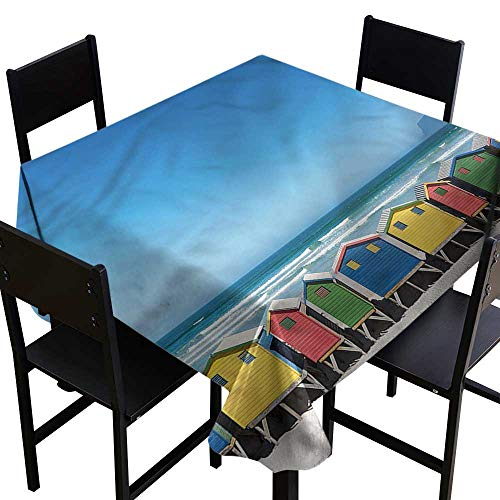 home1love Travel Stain Resistant Square Tablecloth Cape Town South Africa for Banquet Decoration Dining Table Cover 54 x 54 Inch