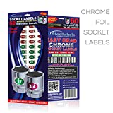 Steellabels - 2 for $8 Deal - Chrome Socket Labels - tough chrome foil tool decals, great for mechanics & homeowners