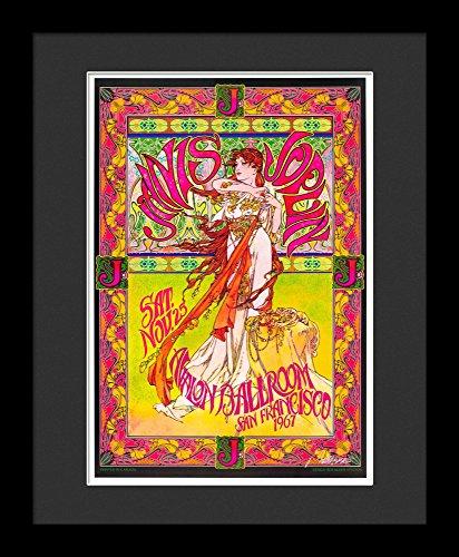 Janis Joplin Framed Concert Poster By Bob Masse