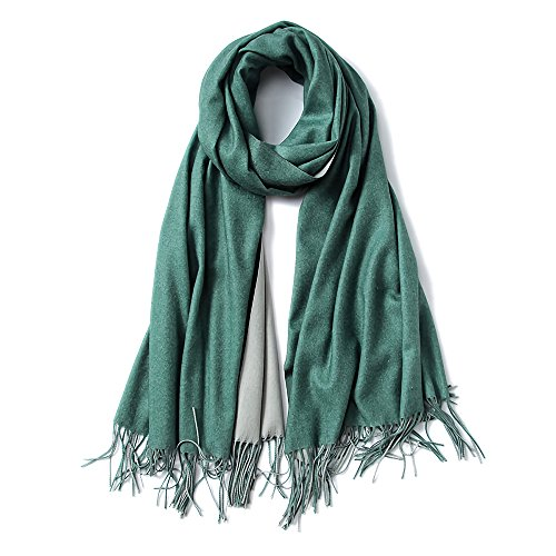 (Cashmere Feel Warm 2 Tone Shawl - Oversized 78