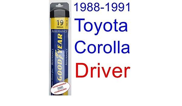 1988-1991 Toyota Corolla GTS - Juego de limpiaparabrisas de repuesto para Toyota Corolla GTS (1989 a 1990): Amazon.es: Coche y moto