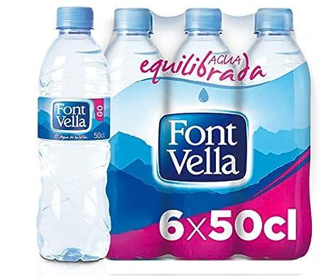 Font Vella Agua Mineral Natural - Pack 6 x 0,5 l: Amazon.es: Alimentación y bebidas