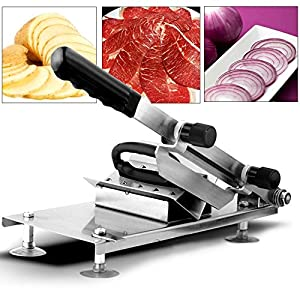 Manual Frozen Meat Slicer for Home Kitchen Stainless Steel Beef Mutton Slicing Machine