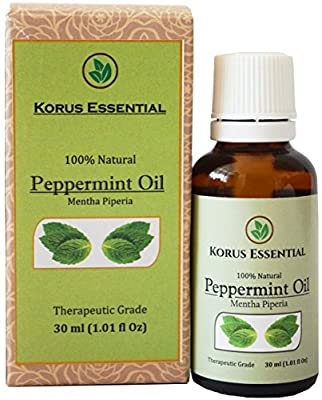 100% Natural Peppermint Essential Oil - 100% Pure Therapeutic Grade 30 ml / 1.01 oz For Relaxation, Personal Care and Household Use