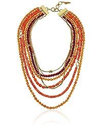 Diane von Furstenberg Caribbean Coral Mixed-Bead Layered Necklace