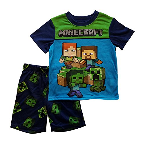 Minecraft Steve Creeper Pajama Sleep Wear Set for Boys