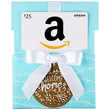 Amazon.com Gift Card in a Welcome Home Reveal (Classic White Card Design)