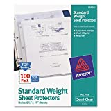 Avery 75536 Top-Load Sheet Protector, Standard, Letter, Semi-Clear (Box of 100)