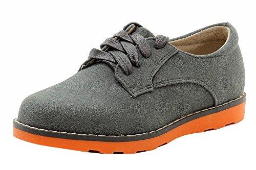 Easy Strider Boy's Suede Buck Fashion Grey Oxford School Uni
