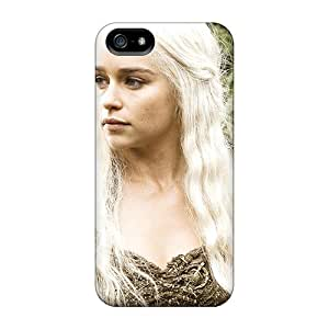 Premium Protection Emilia Clarke In Hbo Game Of Thrones Case Cover For Iphone 5/5s- Retail Packaging