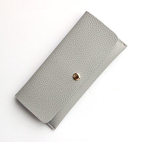 Le donne coreane di Lady slim wallet pochette portafogli semplice cambiamento ,grigio elegante