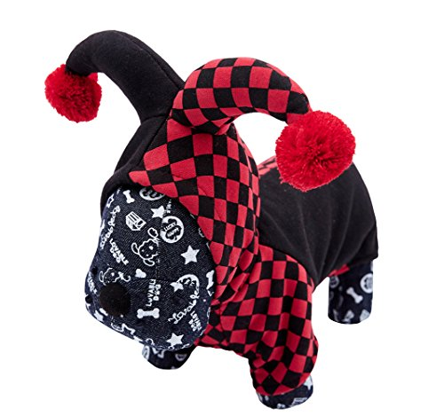 OSPet Funny Pet Hooded Clown Costume for Small Dogs & Cats Halloween Party Cosplay]()