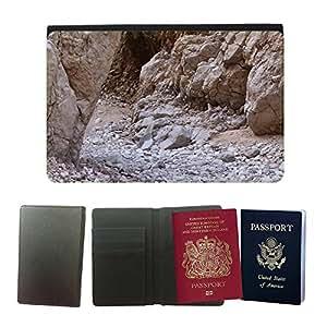 Passeport Voyage Couverture Protector // M00158165 Desierto de la arena de Brown amarillo // Universal passport leather cover