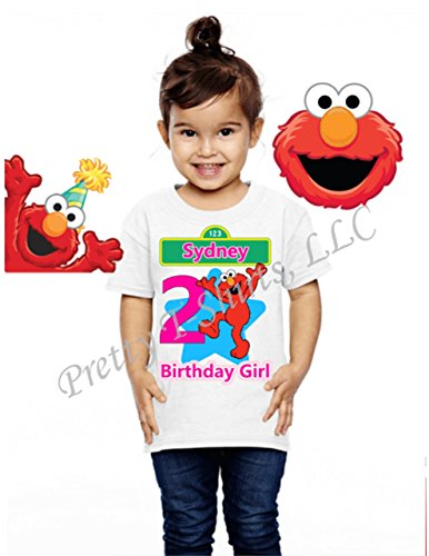 Birthday Girl Shirt, Elmo Shirt Party Favor, Sesame Street Birthday Shirt, Girly Shirt, Girl Elmo Birthday Shirts (Elmo Birthday Shirt)