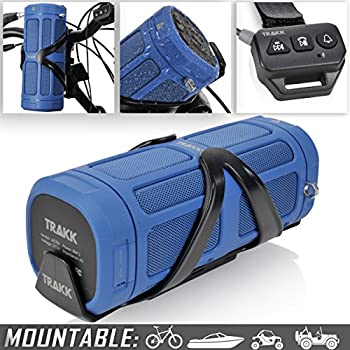 TRAKK ACTIV Bluetooth Bike Speaker - 30 Hours Playtime, 16W 360 Degree Audio with 100ft Range, 6000 mAh Battery & USB Connectivity -Waterproof/Shockproof/Dustproof Portable Bluetooth Speaker, Blue