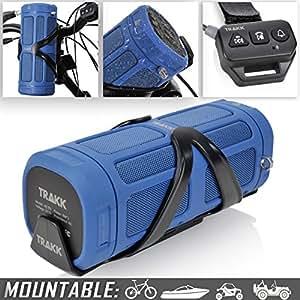TRAKK ACTIV Bluetooth Bike Speaker - 30 Hours Playtime, 16W 360 Degree Audio with 100ft Range, 6000 mAh Battery & USB Connectivity -Waterproof/Shockproof/Dustproof Portable Bluetooth Speaker, Blue