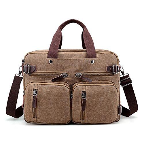 Mefly Bolsa De La Lona De La Moda Hombre De Bolso Bolso De Viaje Multifuncional Caqui brown