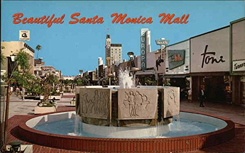 Santa Monica Mall Santa Monica, California Original Vintage - Monica Mall
