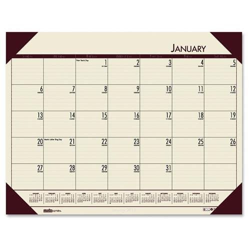 124-43 House of Doolittle EcoTones Desk Pad Calendar - Monthly - 22