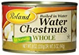 Roland Water Chestnuts, Whole, 8 Ounce (Pack of 24)