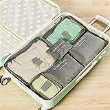 6 Set Portable Storage Bag Multifunction Cosmetics Categories Organizer Bag Light Grey